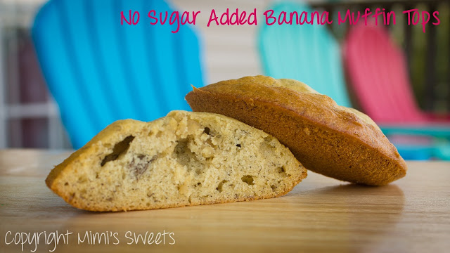 No Sugar Added Banana Muffins & Tops