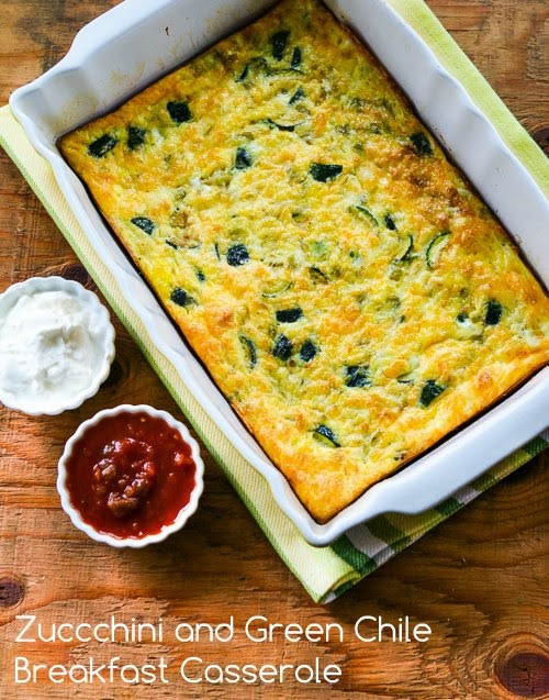 This Zucchini and Green Chile Breakfast Casserole is so delicious, I'd ...