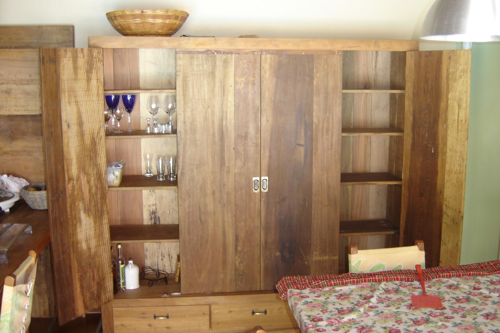 de peças e móveis: Armário multiuso em madeira de demolição #943F37 1600x1067