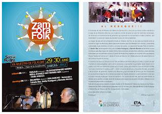 ZamoraFolk. XXI muestra de folklore. Octavilla