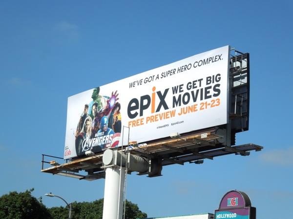 Epix Avengers billboard