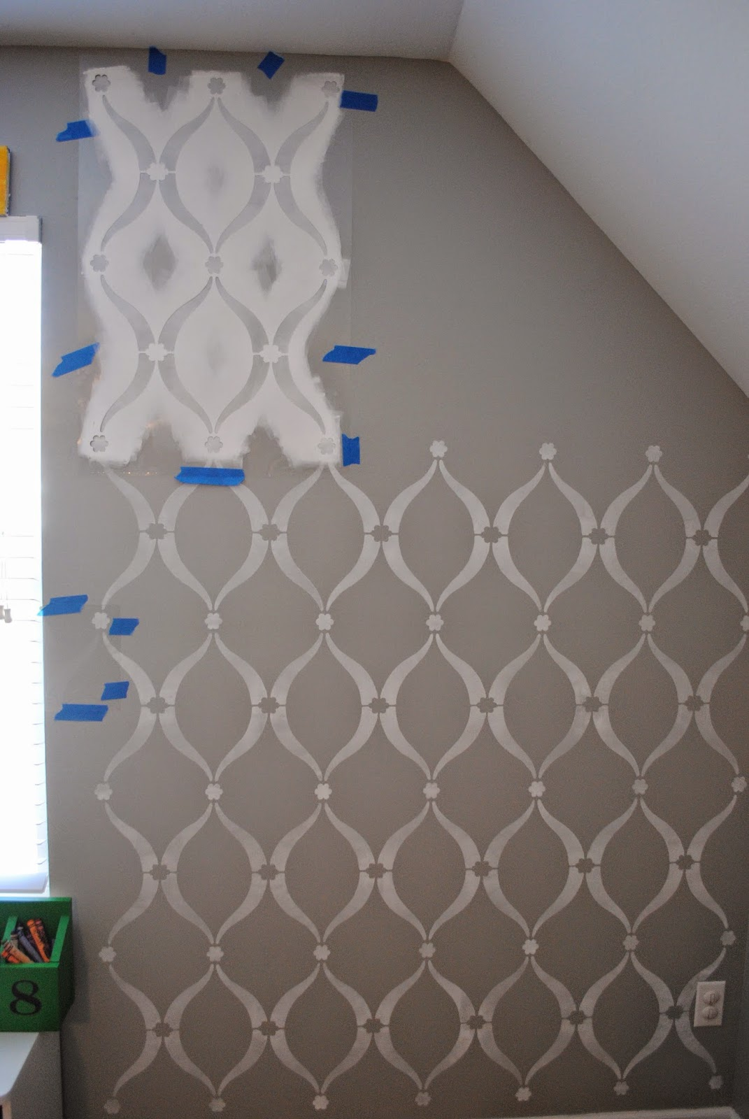 Wall Stencil Patterns Hobby Lobby : Upside of chaos cutting edge stencil review for our playroom