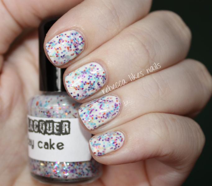Birthday Fingernail Cake: Rebecca Likes Nails: 31dc2012