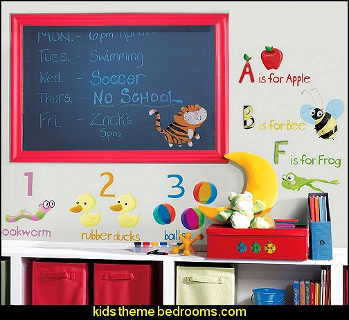 Education Station Peel & Stick Wall Decals alphabet numbers bedroom ideas - LETTERS & NUMBERS DECOR