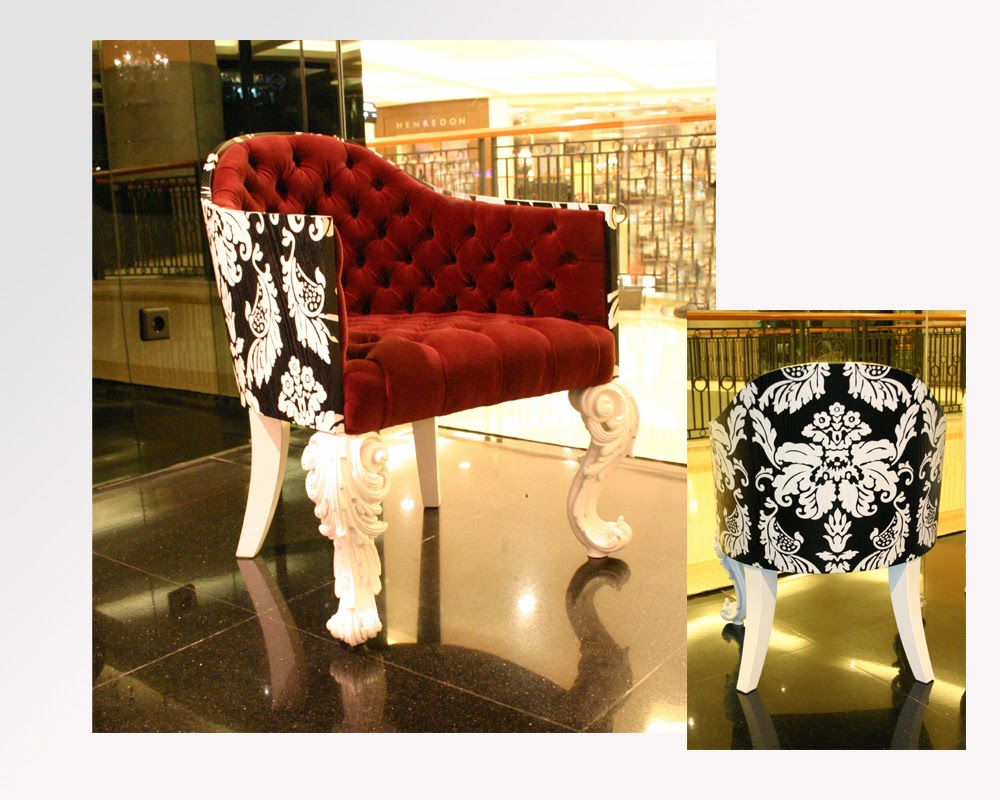 Versace Home Bellini Arm Chair Used Luxury Furniture