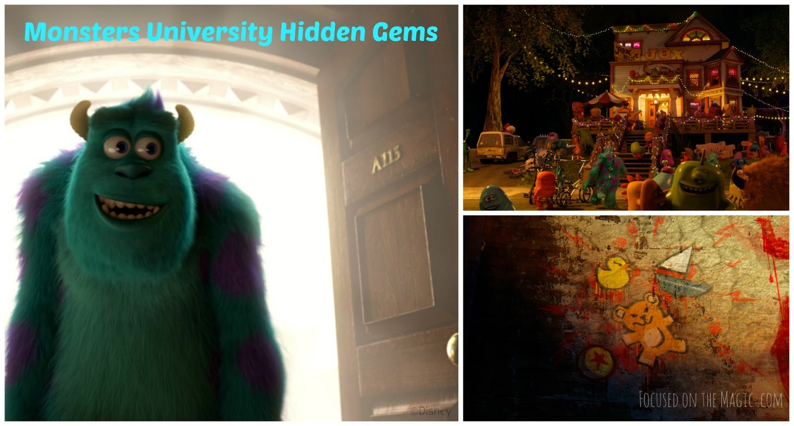 Tiggerific Trivia ~ Monsters University Hidden Gems ...