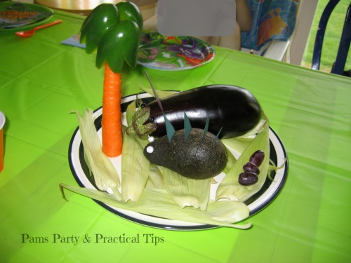 Fun food, Dinosaurs made from vegetables
