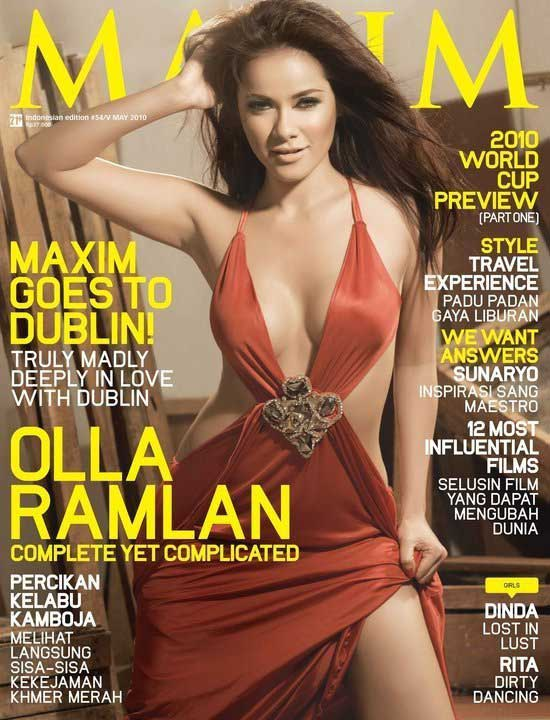 foto gambar Olla Ramlan Hot in Maxim Cover