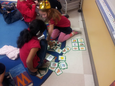 Matching rhyming words in Word Work