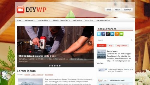 DIYWP - Free Blogger Template