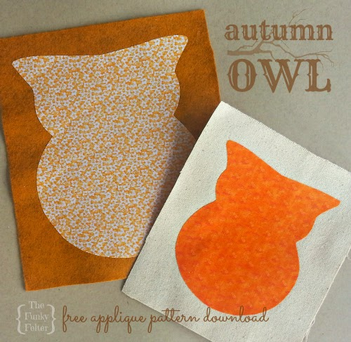 free craft project printable for making an autumn owl applique