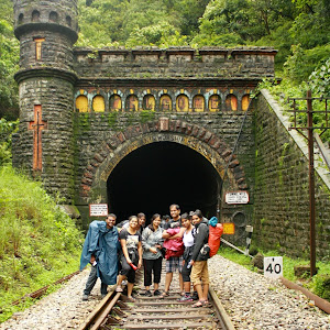 Tunnel way to Dudhsagar water falls