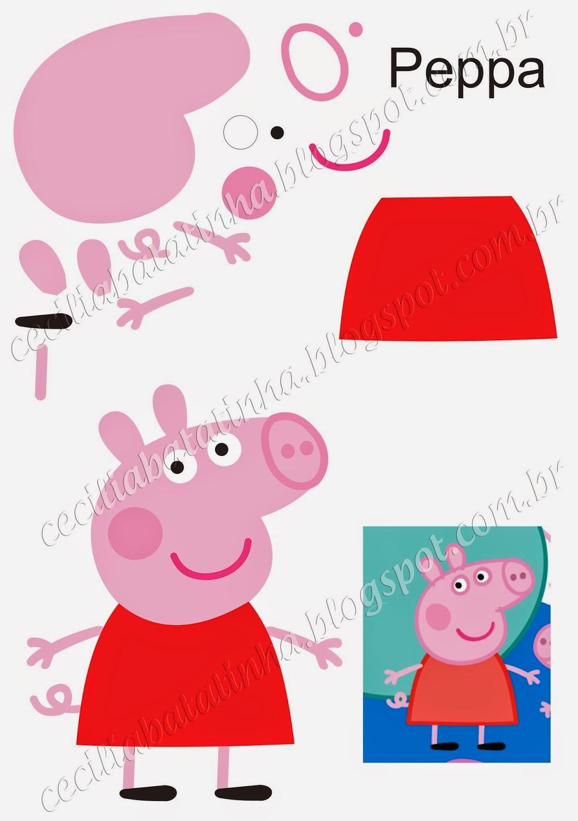 Molde Da Peppa Pig
