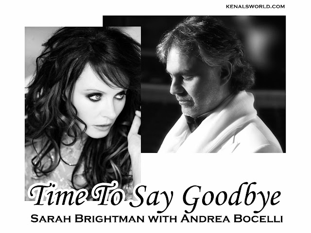 letra de la cancion time to say goodbye de sarah: