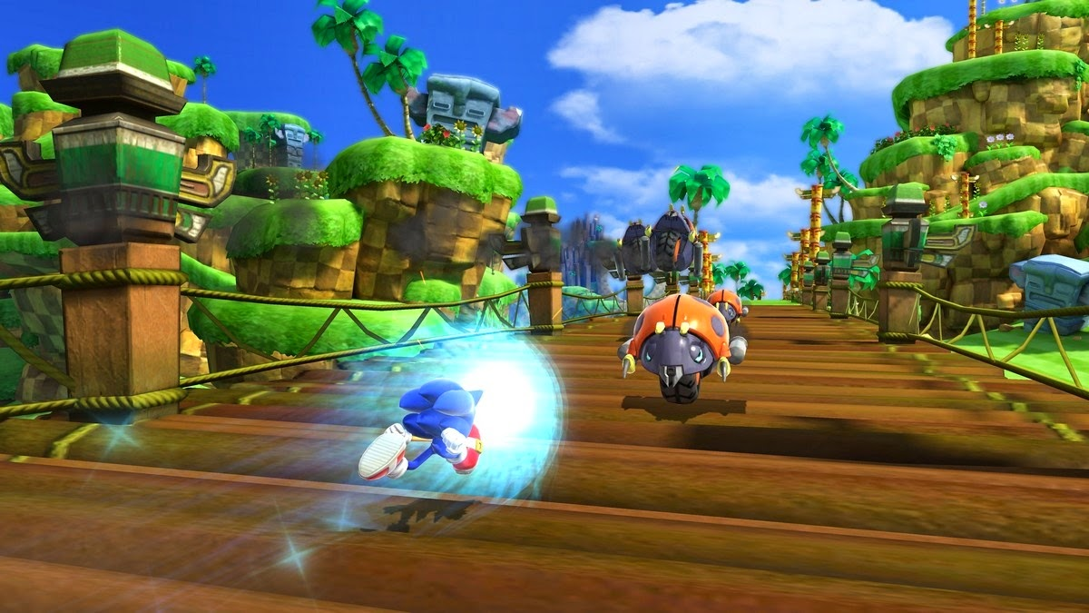 The lush modern reimagining of Green Hill Zone