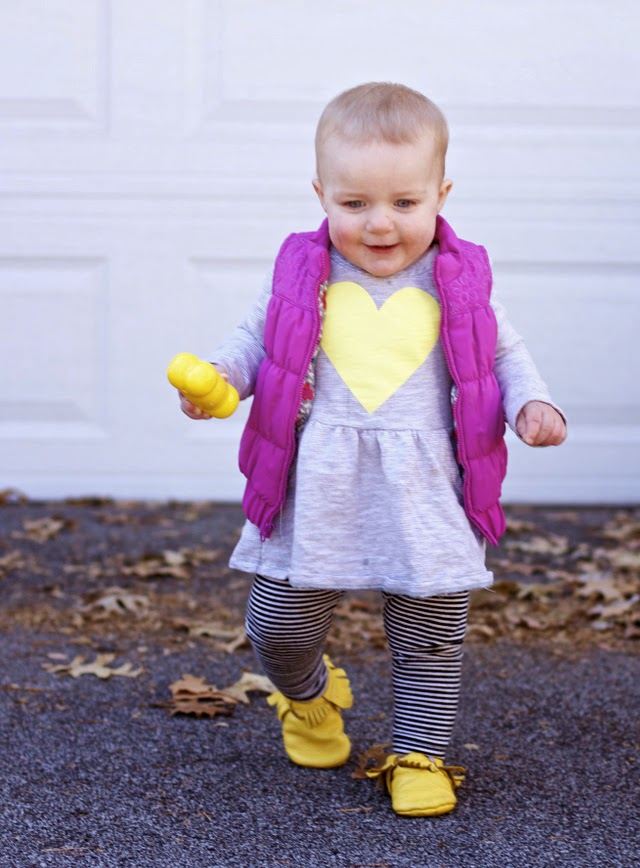 Toddler Girl Outfit Idea layering mixing patterns
