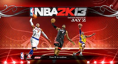 NBA 2K13 Melo, LeBron, & Kobe Startup Screen