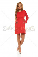 Rochie StarShinerS Brodata Rose Vibe Red (StarShinerS)