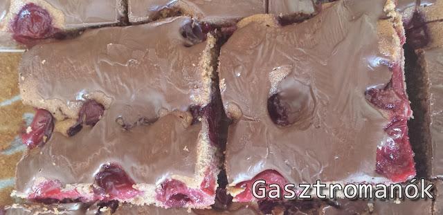 csokis meggyes sütemény recept