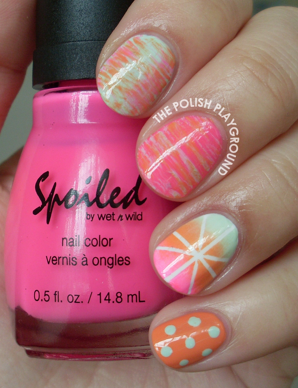 I'm Ready For Spring Skittle Nail Art