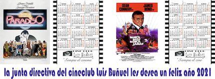 Calendarios Cine Club Luis Buñuel para el Año 2021
