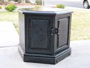 Black Shabby Chic End Table  *SOLD*