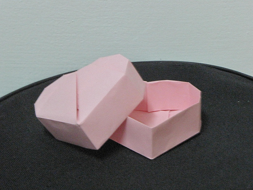 Caja en forma de Corazón | El arte del Origami