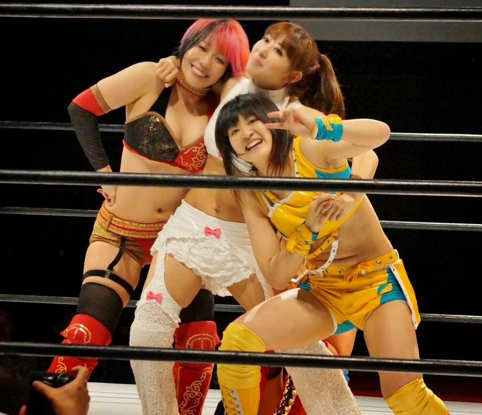 Kana, Cherry, and Shuu Shibutani - Japanese Female Wrestling