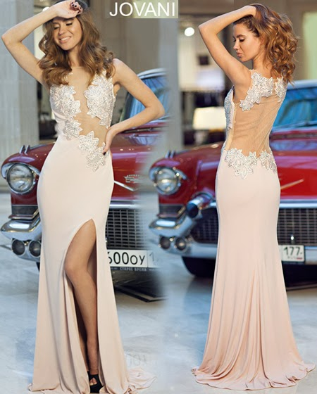 Изрязана бална рокля Jovani 2014