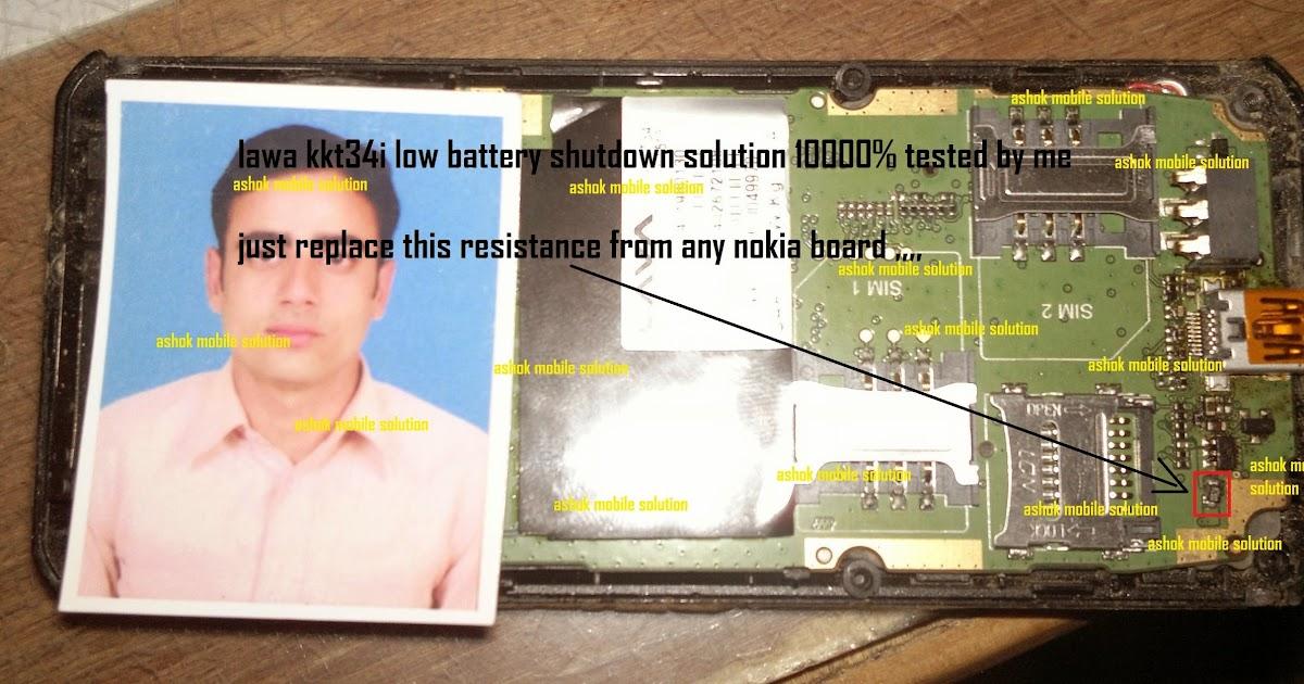 Ashok Mobile Solutions  lawa kkt34i low battery shutdown