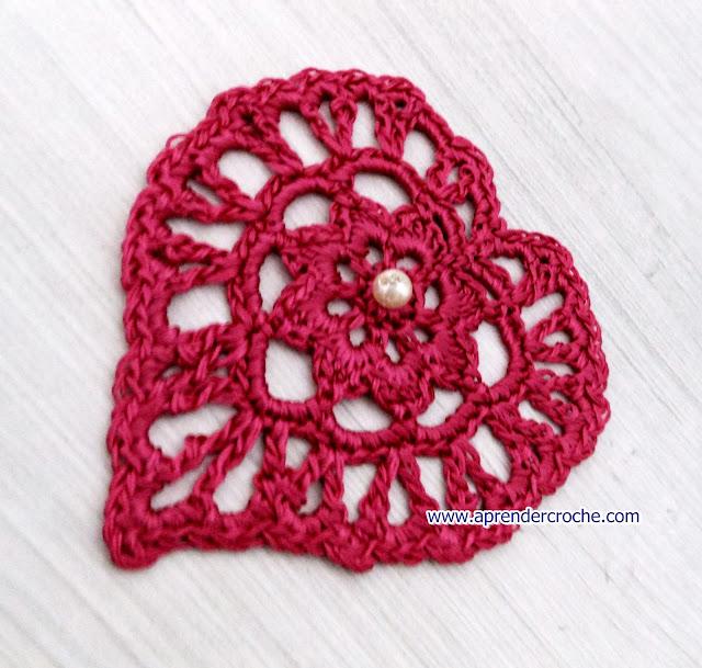 aprender croche com medalhão modelo coração suzi circulo edinir-croche dvd loja curso de croche