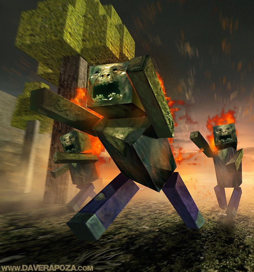 Super punch minecraft monster art contest for Zombie build