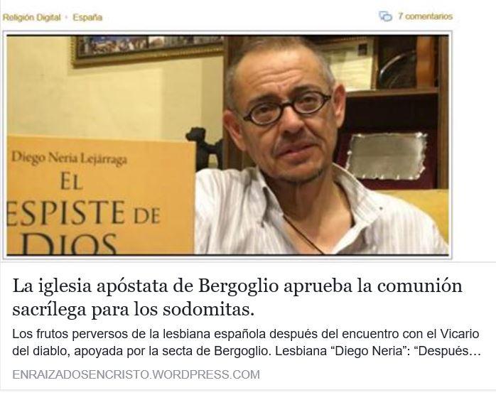 Bergoglio promueve el Sacrilegio para los sodomitas