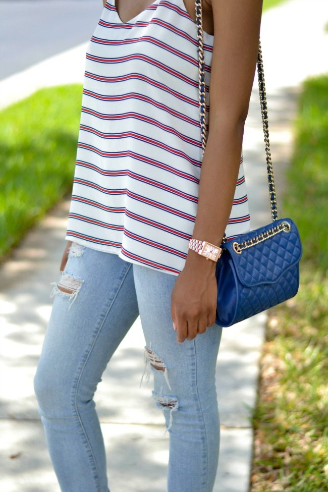 Striped Barcelona Cami | Spring Outfit Ideas