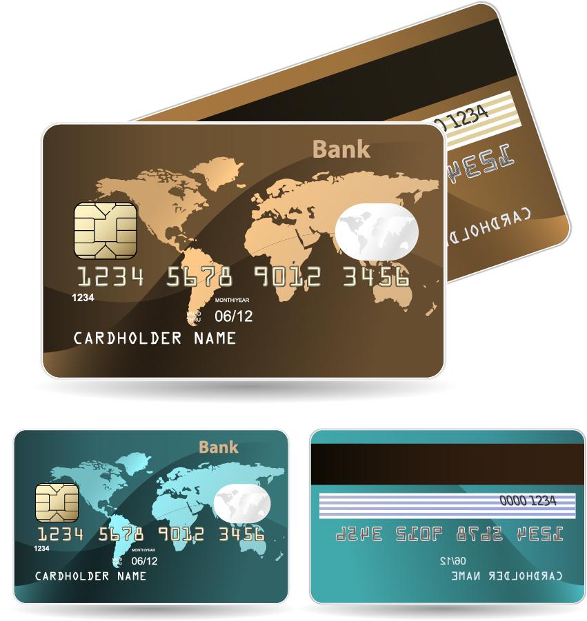 クレジットカード見本 credit card bank card vector イラスト素材1