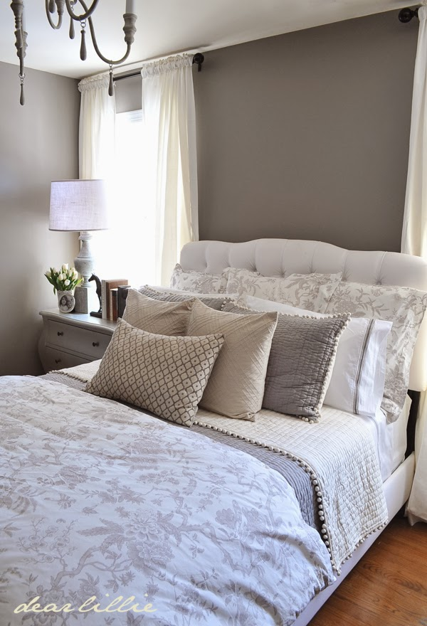 Our Gray Guest Bedroom And A Full Source List Wall Color Graystone Bm Trim Simply White Bm