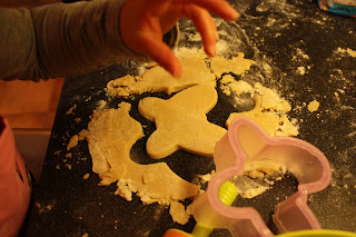 cutting out butterfly biscuits