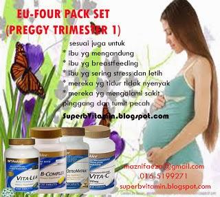 Set eu four pack terbaik untuk vitamin ibu hamil