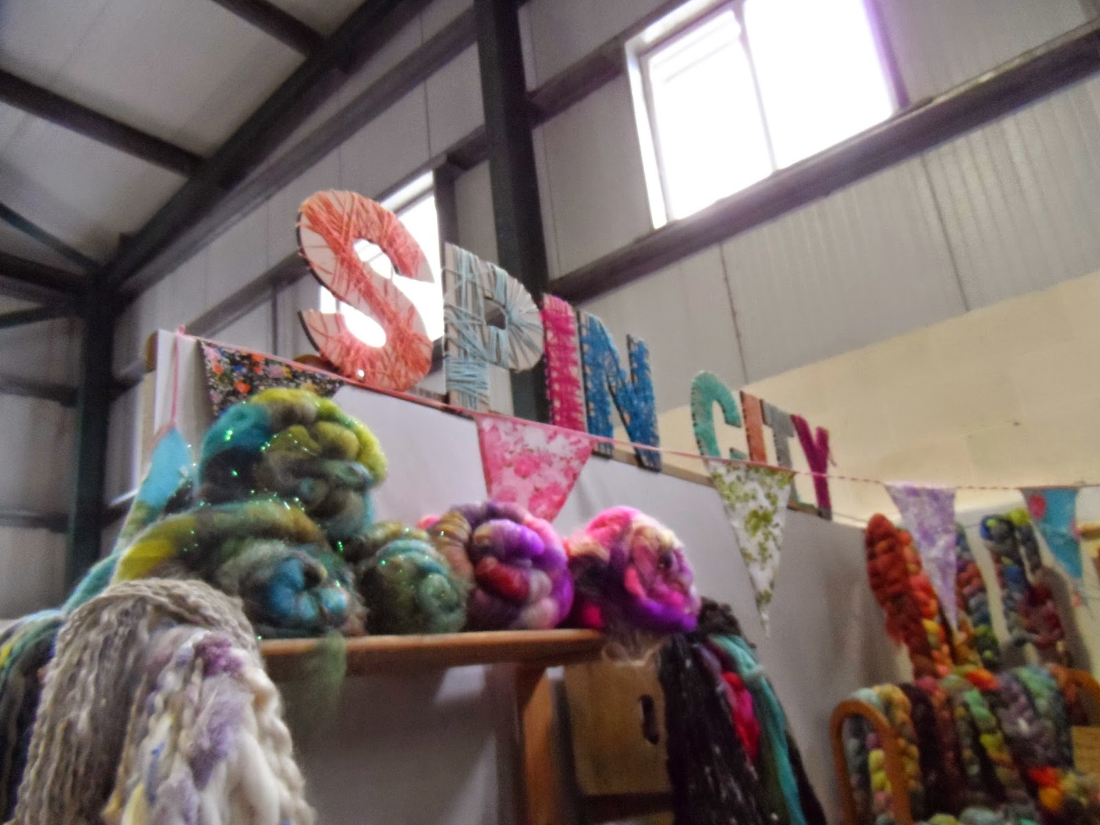 Woolfest 2014 - Spin City stand