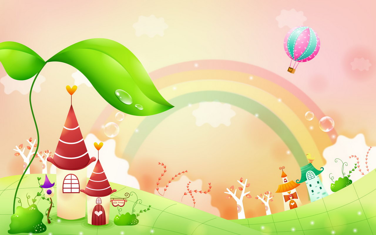 Enjoy The Latest Childrens Fantasy Garden Wallpaper Photo