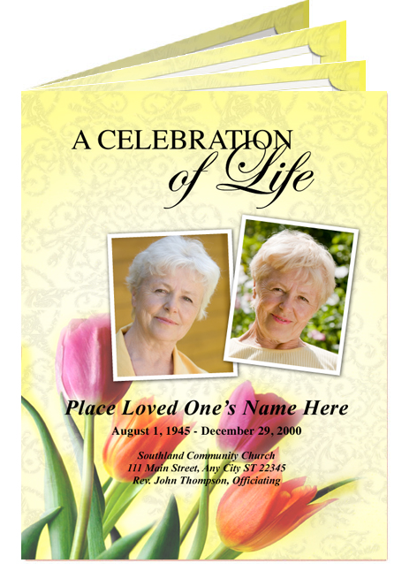 celebration of life store create your very own custom funeral programs