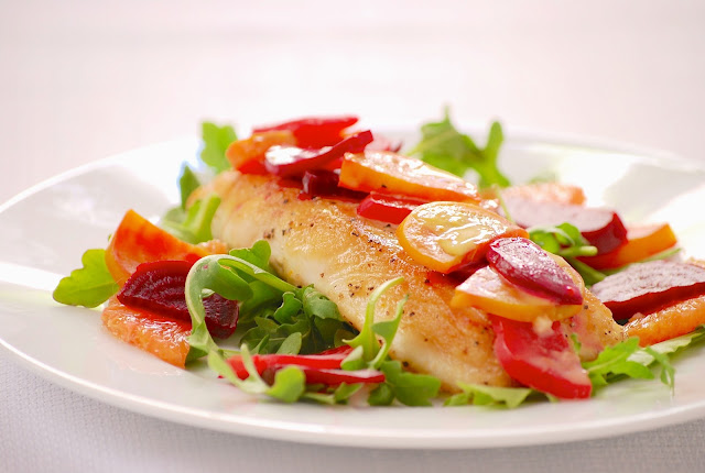 ... Trials: Picture perfect, or is it? Halibut with Cara Cara Orange Sauce