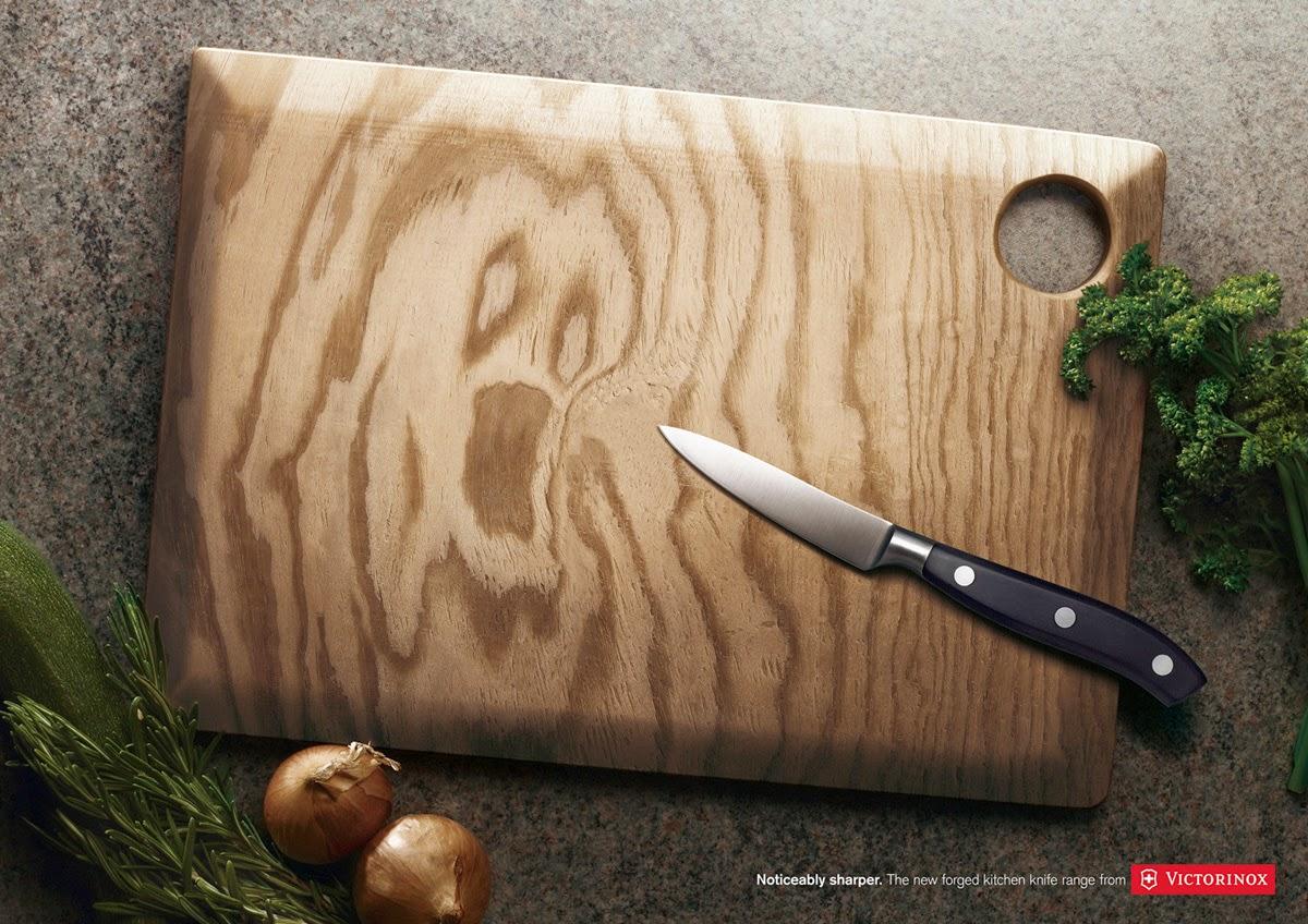 publicité couteaux de cuisine Victorinox