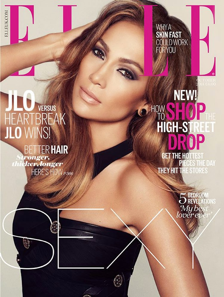 Jennifer Lopez is sexy in Versace for Elle UK's October 2014 issue
