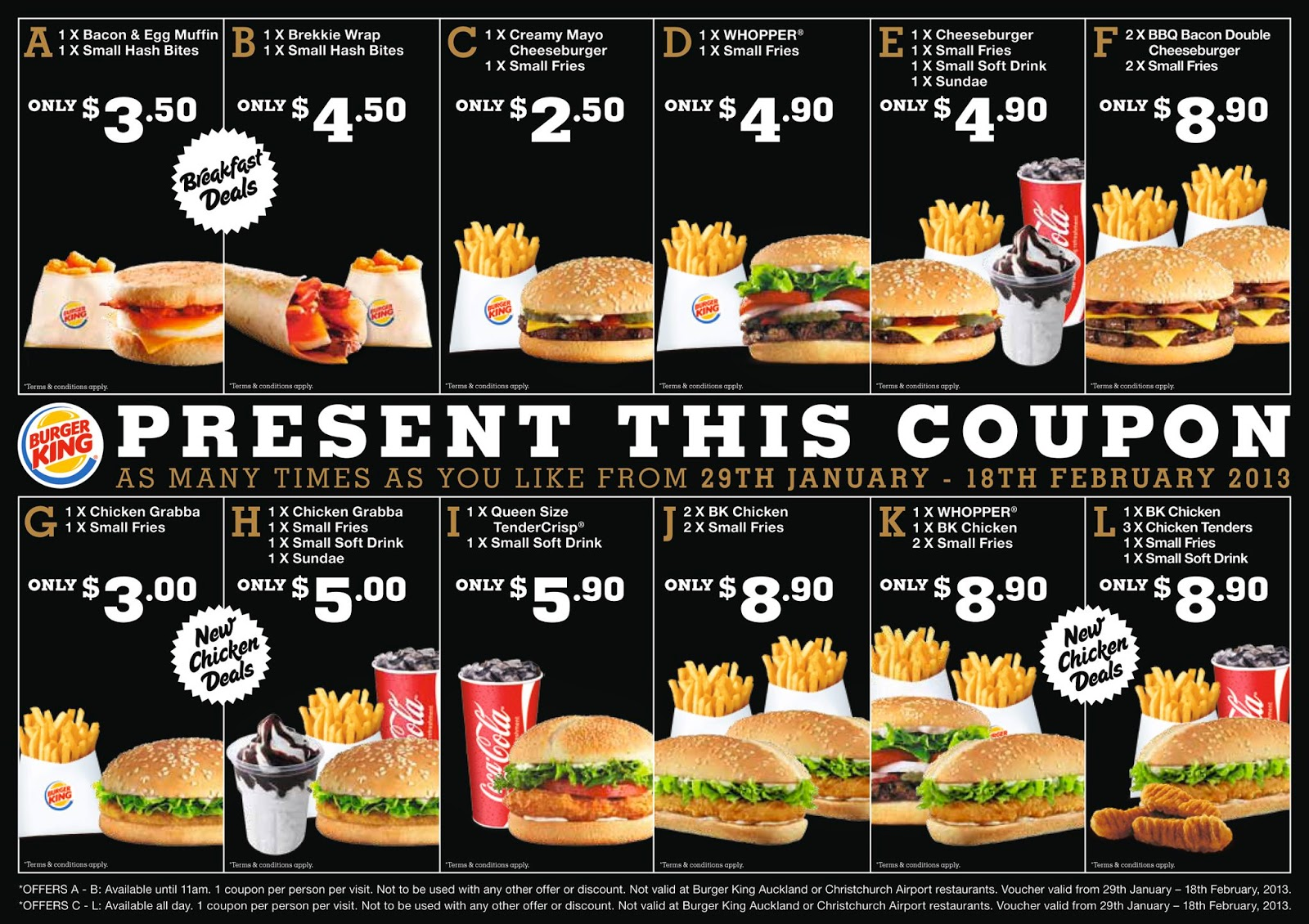 Burger king mobile coupons online