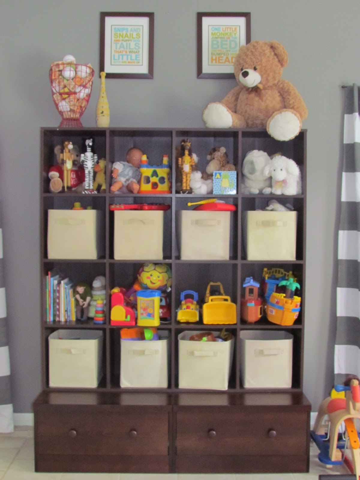 Southern Whim Playroom Storage Pottery Barn Knockoff
