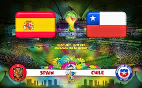 Spain vs Chile today and June 18, 2014 live broadcast today on Al Jazeera Sports