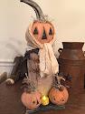 """Handmade Primitive Folk Art 'Pumpkin Bumpkins"""""""