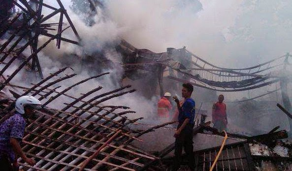 Kebakaran Pabrik Tepung Tapioka Bogor