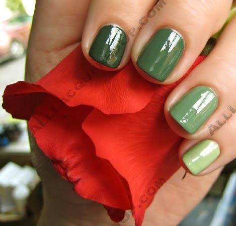 Ногти оливкового цвета